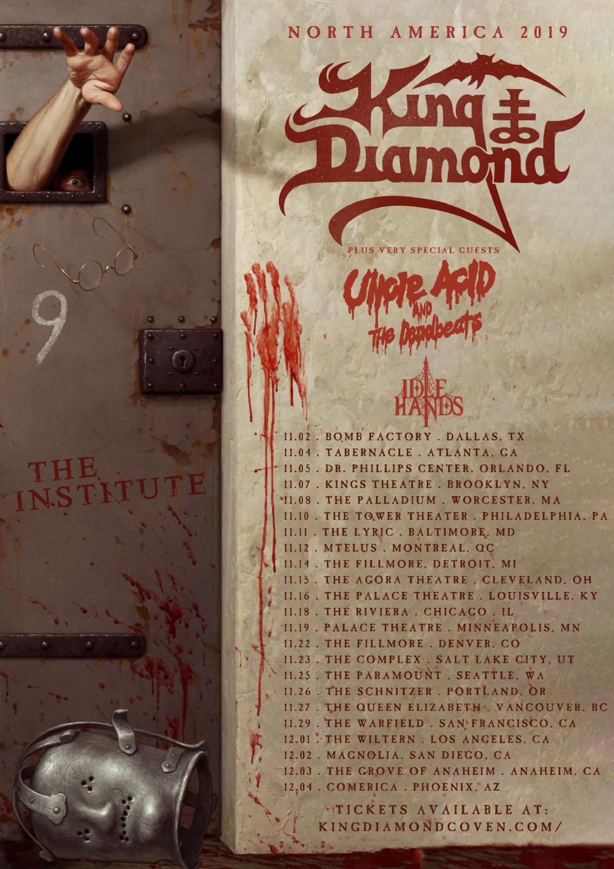 Diamond Tours 2020 Schedule News: KING DIAMOND Announces N. America Tour & Album Details